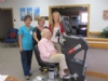 A recumbent bike was donated to Memorial Living Center